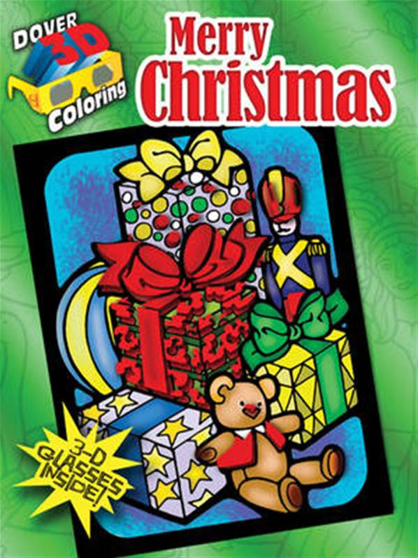 Merry Christmas-Dover-3-D-Coloring-Book