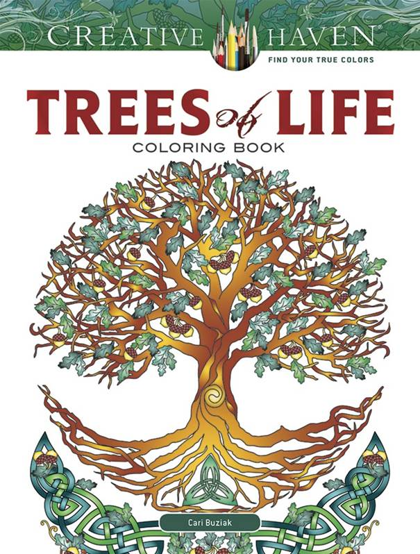 Creative Haven Trees of Life Colouring Book