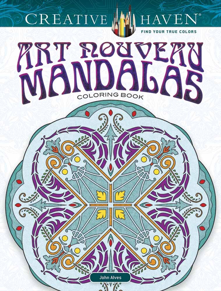 Creative Haven Art Nouveau Mandalas Coloring Book