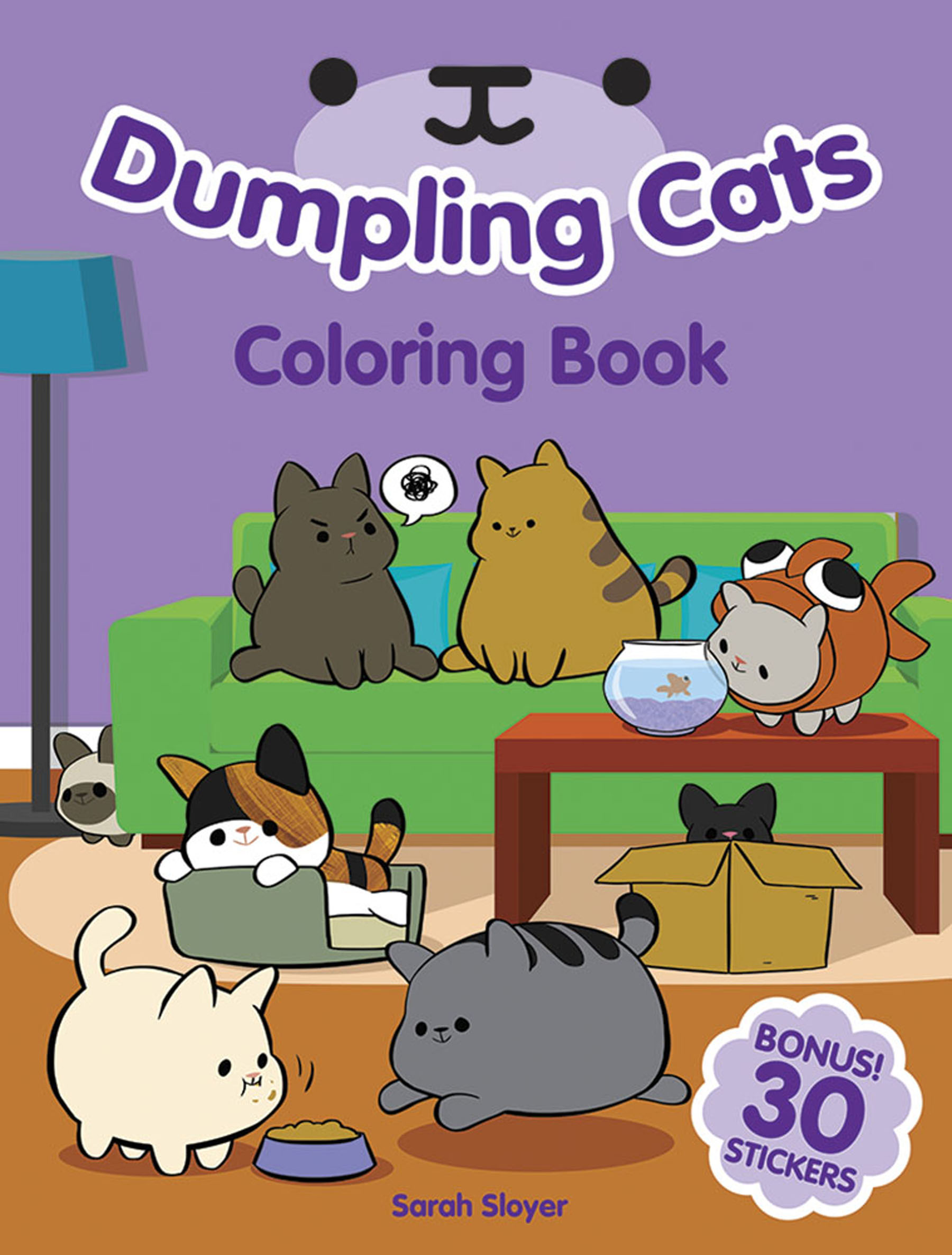 Dumpling Cats Coloring Book with Stickers