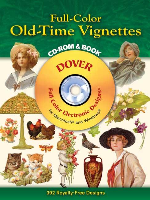 Full Colour Old Time Vignettes CD Rom And Book