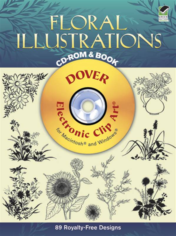 Floral Illustrations Cd-Rom and Bk