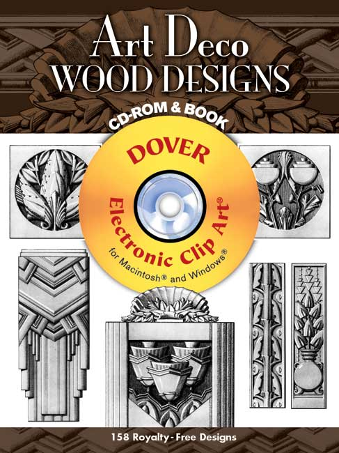 Art Deco Wood Designs CD ROM and Book