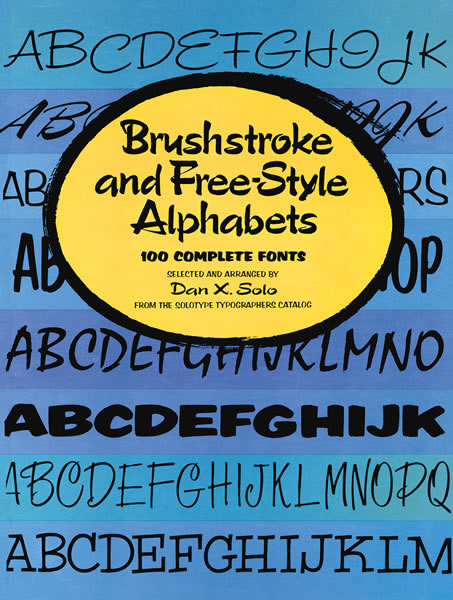 Brushstroke and Free-Style Alphabets