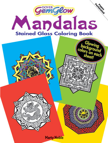 Gemglow Mandalas Stained Glass Coloring Book