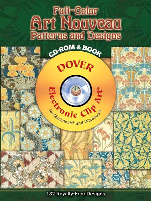 Full-Color Art Nouveau Patterns and Designs CD-ROM and Book