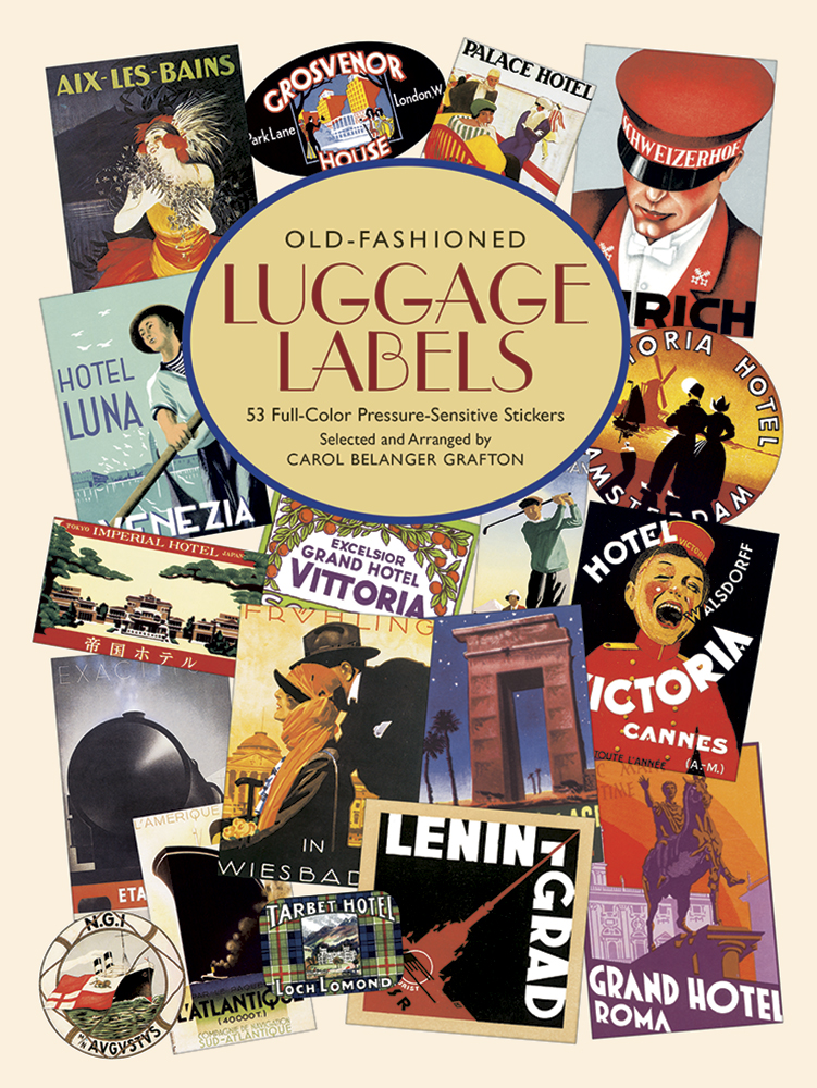 Old Fashioned Luggage Labels