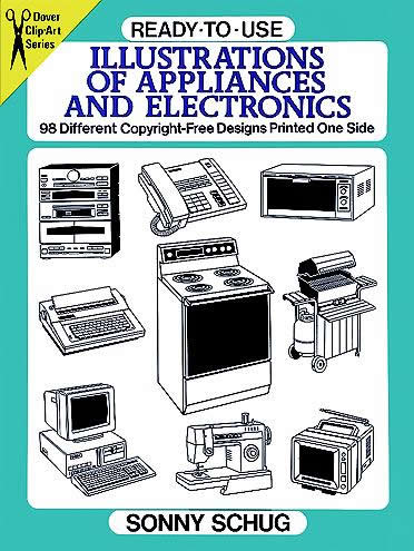 Ready-to-Use Illustrations of Appliances and Electronics