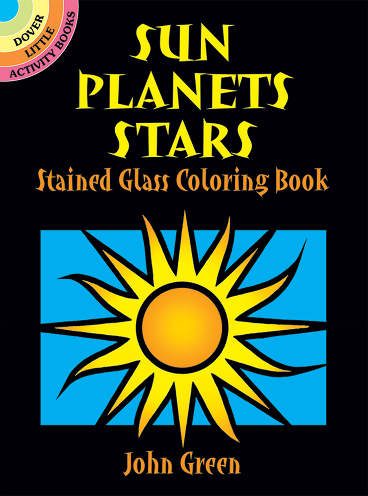 Sun, Planet, Stars Stained Glass Coloring Book