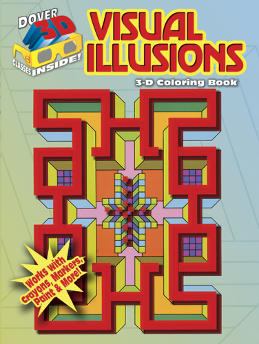 3-D Coloring Book - Visual Illusions
